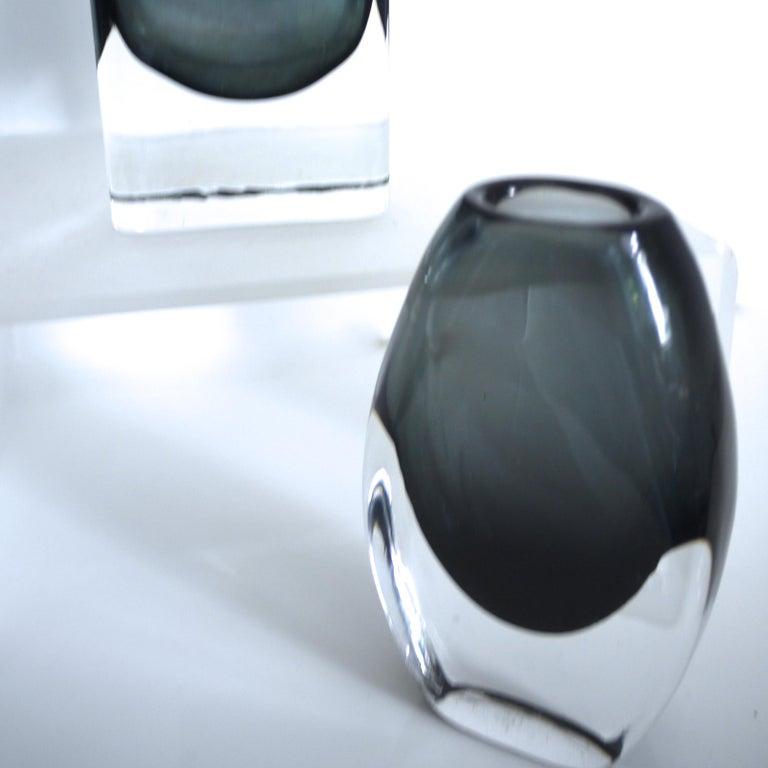 Scandinavian Modern Vintage Collection Smoked Glass from Lindshammer and Kaj Franck for Nuutajarvi For Sale