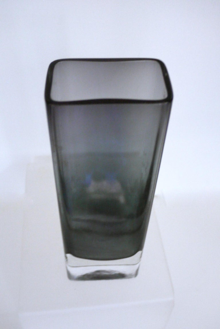 Vintage Collection Smoked Glass from Lindshammer and Kaj Franck for Nuutajarvi In Distressed Condition For Sale In Halstead, GB