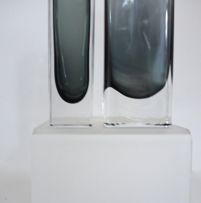 20th Century Vintage Collection Smoked Glass from Lindshammer and Kaj Franck for Nuutajarvi For Sale