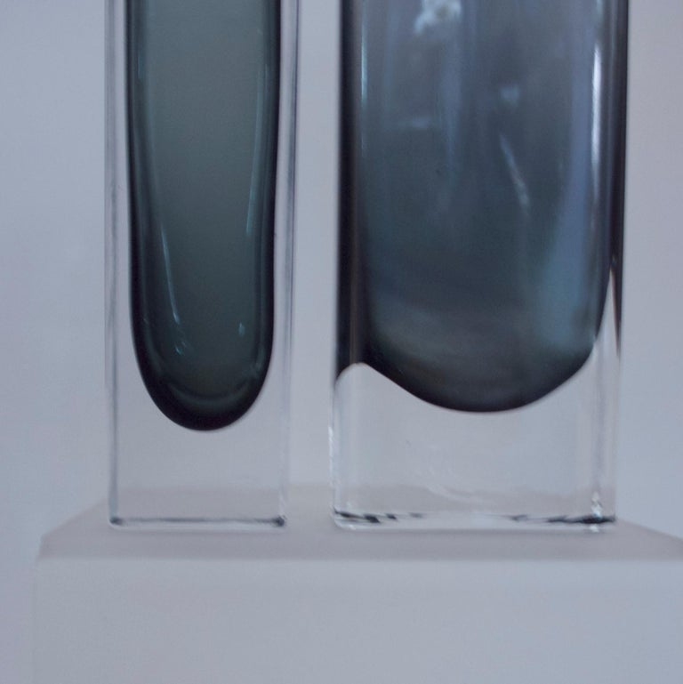 Art Glass Vintage Collection Smoked Glass from Lindshammer and Kaj Franck for Nuutajarvi For Sale