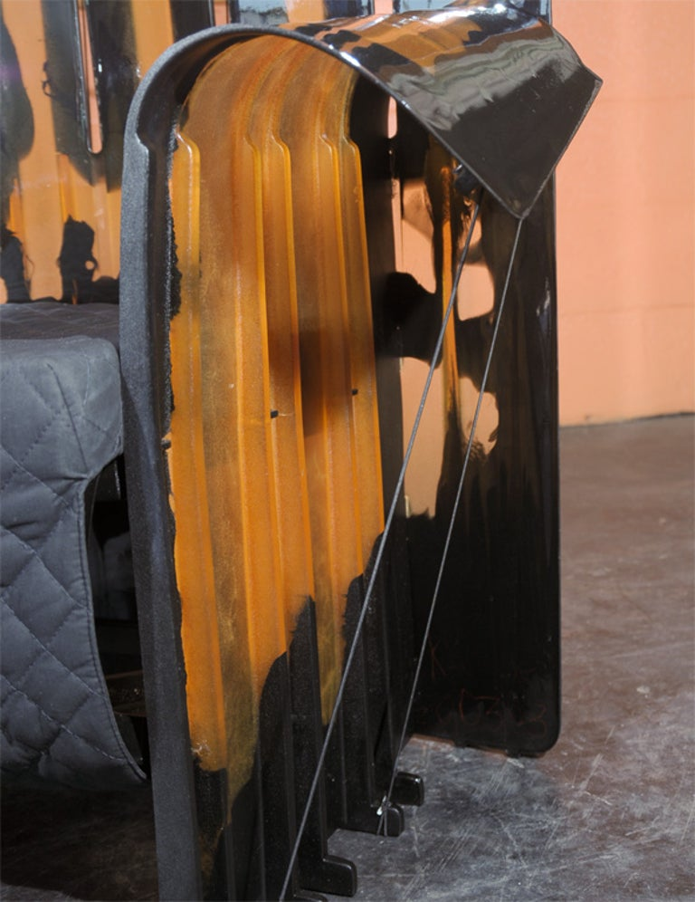 Fabric Three-Piece Set of Gaetano Pesce Furniture For Sale
