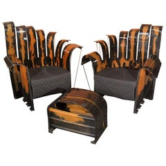 Set of Gaetano Pesce's Nobody's Royal Lounge Chairs and Ottoman