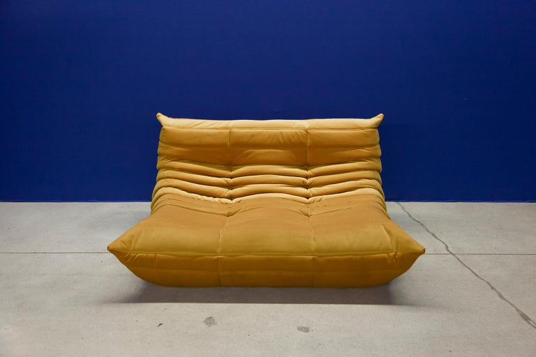Mid-Century Modern Three Piece Togo Set by Michel Ducaroy Manufactured by Ligne Roset in France For Sale