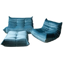 Three-Piece Togo Set by Michel Ducaroy Manufactured by Ligne Roset in France