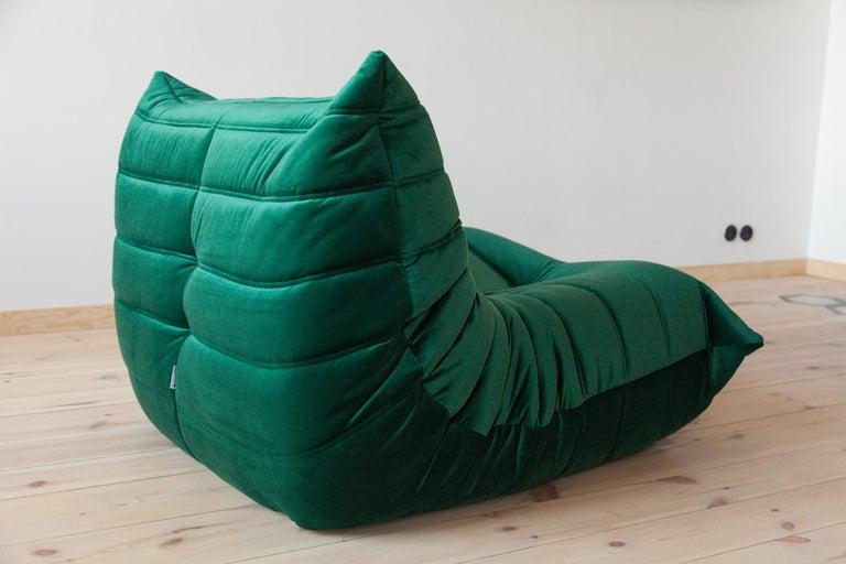 Three-Piece Togo Set, Design by Michel Ducaroy, Manufactured by Ligne Roset For Sale 3