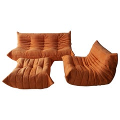 Three-Piece Togo Set, Design by Michel Ducaroy, Manufactured by Ligne Roset