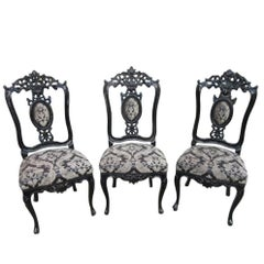 Three Pieces in Baroque Style Chairs, circa 1900