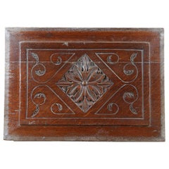 Three Pieces of Reclaimed Oak Carved Panels, 20th Century