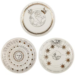 Three Plates from the Astronomici Series by Piero Fornasetti