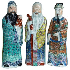 Three Porcelain Figures of the Chinese Immortals