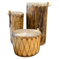 Three Pueblo Style Drums by Taos Drums