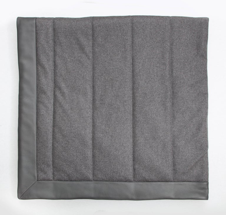 Modern Three Quilt Collection Leather & Cashmere by Rafael De Cardenas & Mel Ottenberg For Sale
