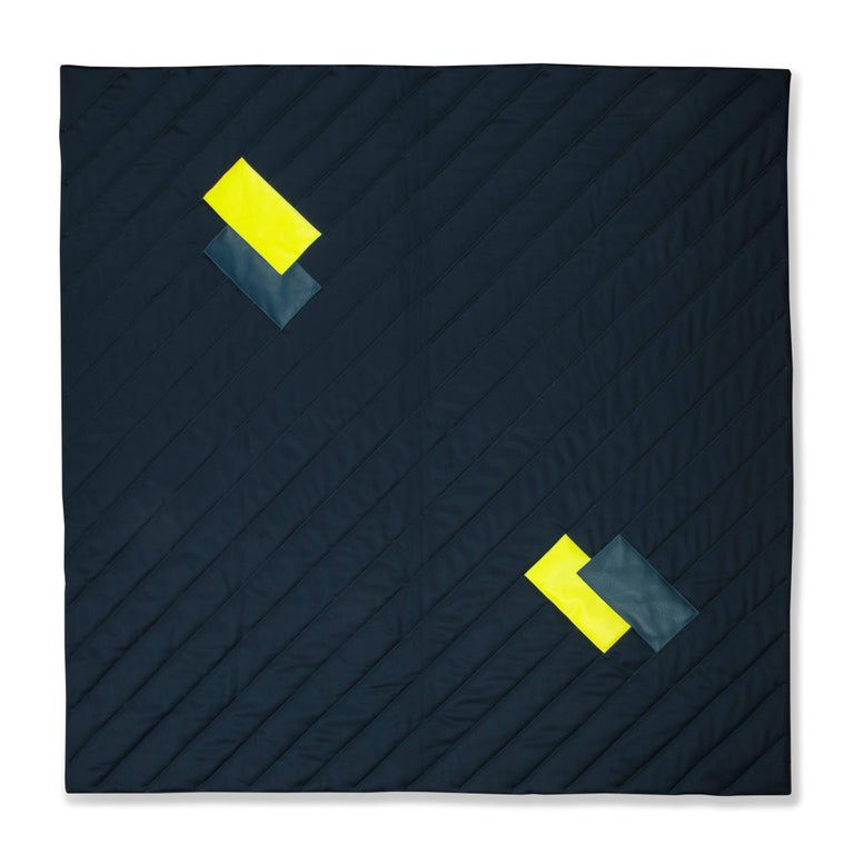 Silk Three Quilt Collection Leather & Cashmere by Rafael De Cardenas & Mel Ottenberg For Sale