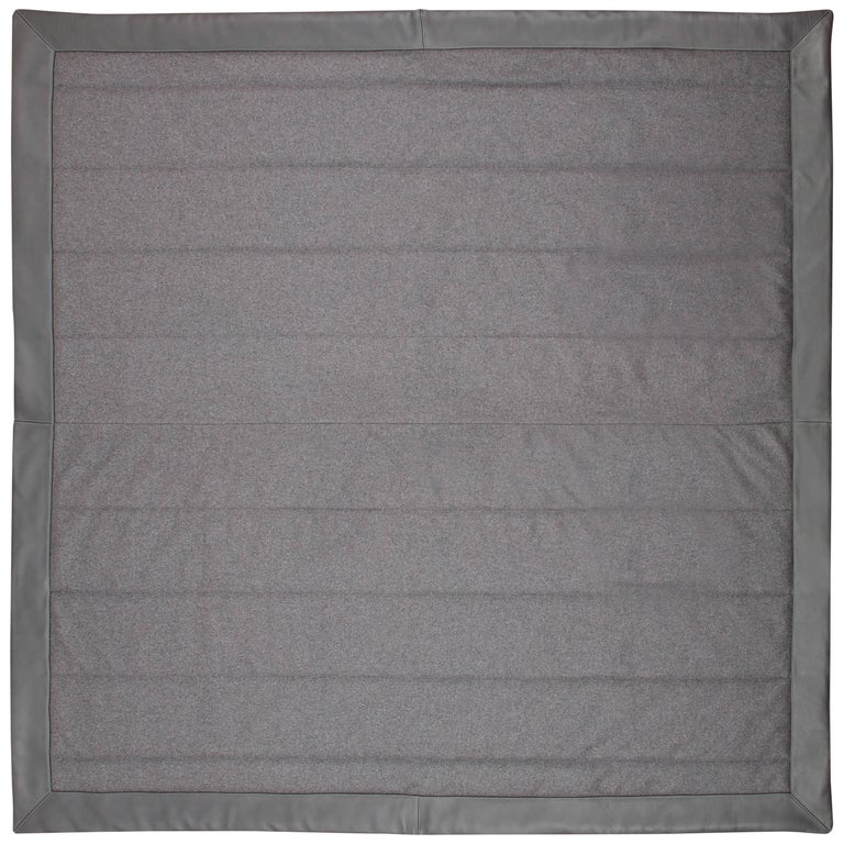Three Quilt Collection Leather & Cashmere by Rafael De Cardenas & Mel Ottenberg For Sale