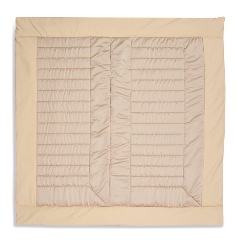 Silk, Wool, Suede Cream & Chartreuse Quilt by Rafael De Cardenas & Mel Ottenberg For Sale 5