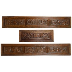 Three Rectangular Panels, Wood, Renaissance, 16th Century