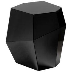 Three Rocks High Side Table, Black Glass, InsidherLand by Joana Santos Barbosa