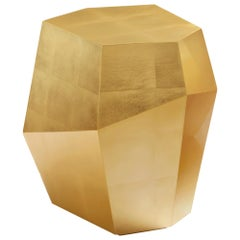 Three Rocks High Side Table, Gold Leaf, InsidherLand by Joana Santos Barbosa