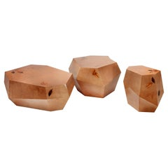 Three Rocks Tables 'Set of 3', Marquetry, InsidherLand by Joana Santos Barbosa