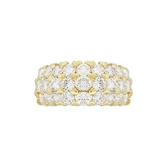 Three-Row Diamond Pave Band