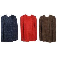 Three Sam Kori Greorge Courture Atelier Boucle Jackets. Approximately size 12-14