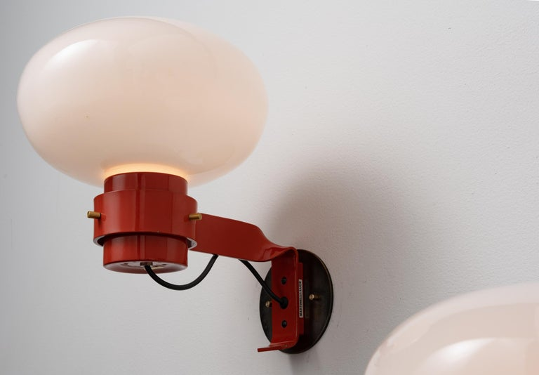 Mid-Century Modern Three Sconces by Martinelli For Sale
