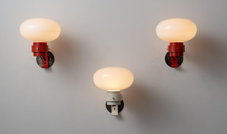 Italian Three Sconces by Martinelli For Sale
