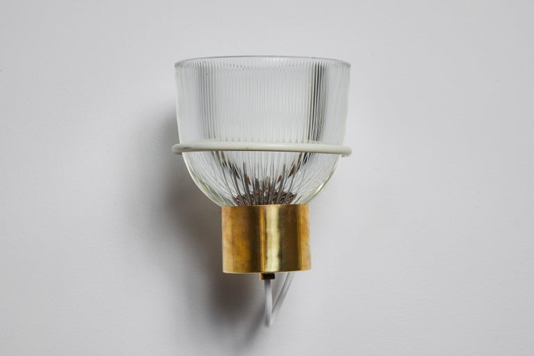 Brass One Sconce by Sergio Asti for Candle For Sale