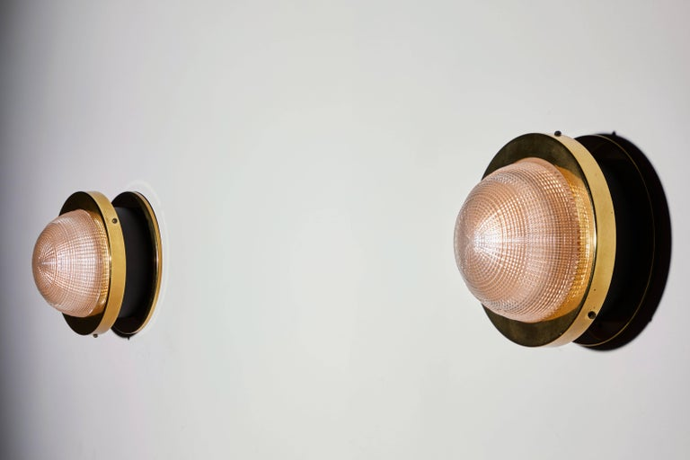Italian Two Sconces by Stilnovo For Sale