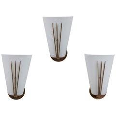 Three Sconces by Stilnovo
