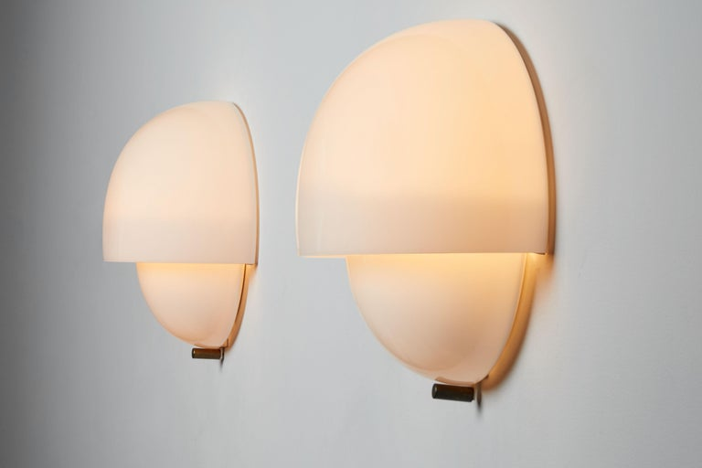 Mid-Century Modern Three Sconces by Vico Magistretti For Sale