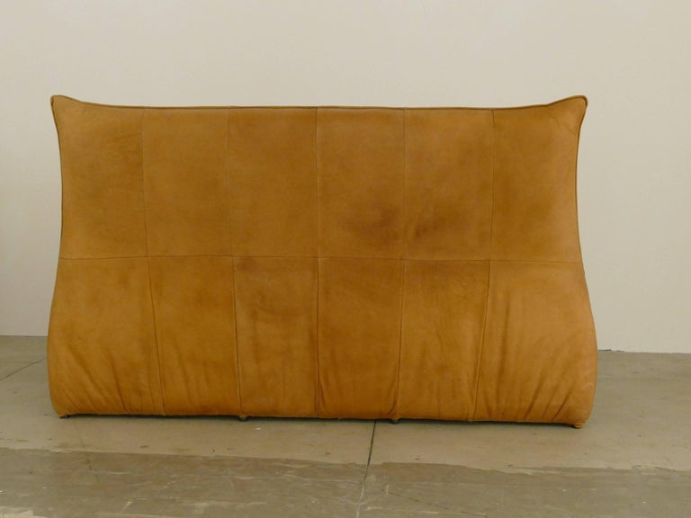 "Leather Three-Seat ""The Rock"" Sofa by Gerard van den Berg Sofa For Sale"