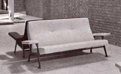 Three seat 'Hall' sofa by Roberto Menghi for Arflex, 1959. Restored upholstery