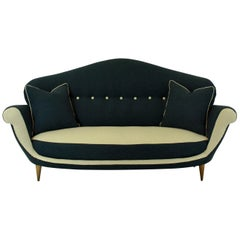 Three-Seat Italian Sofa of Unusual Design