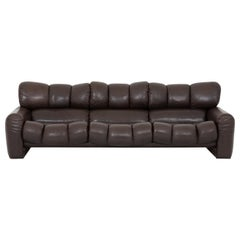 Three Seat Leather Sofa by Tongiani Stefanos, Italy