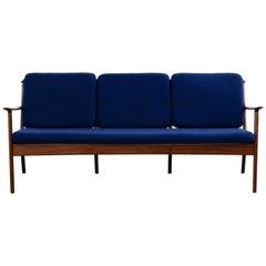 Three-Seat Mahogany Sofa by Ole Wanscher for P. Jeppesens Møbelfabrik