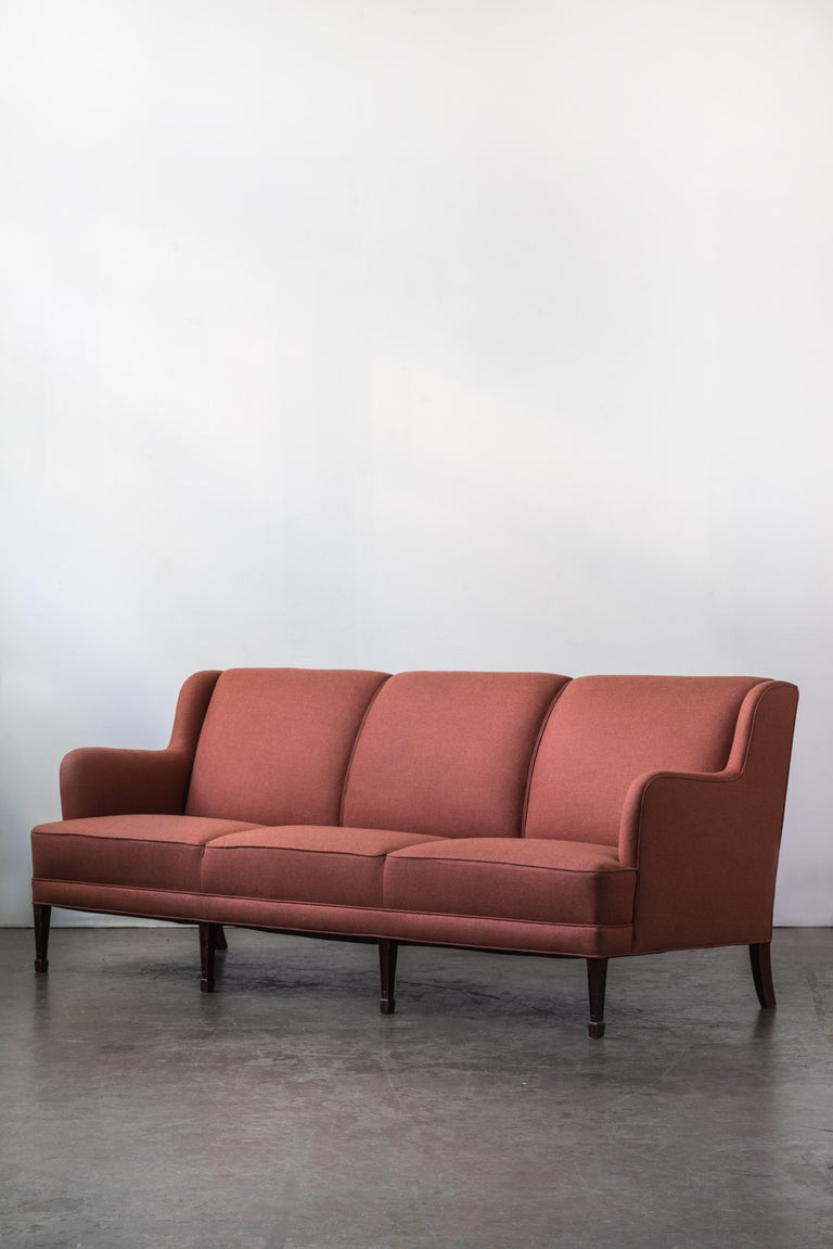 Mid-Century Modern Three-Seat Sofa by Frits Henningsen For Sale