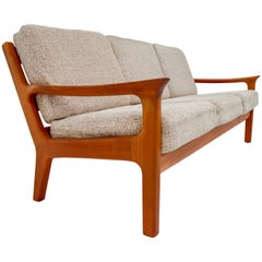 Three-Seat Sofa in Teak by Juul Kristensen and Glostrup Furniture, 1960s