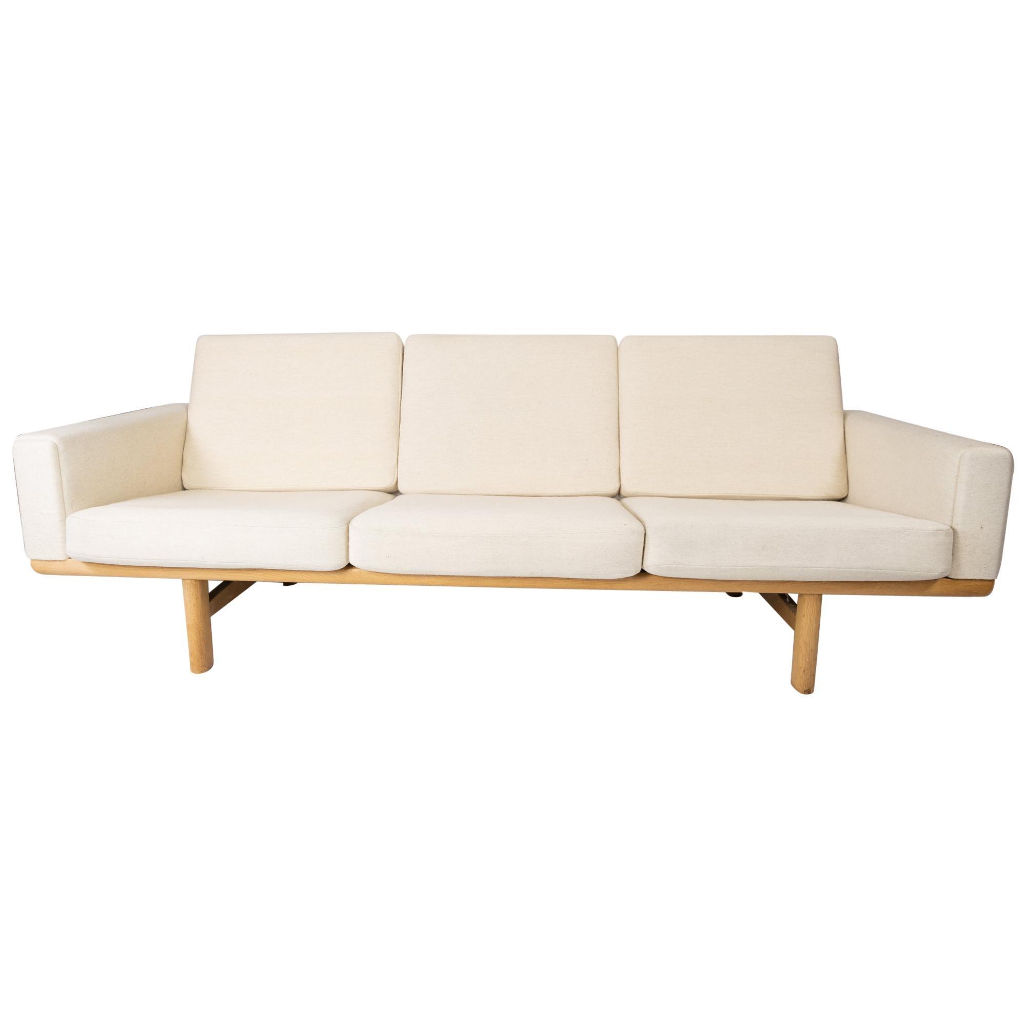 Three-Seat Sofa, Model GE-236/3, Designed by Hans J. Wegner, 1960s