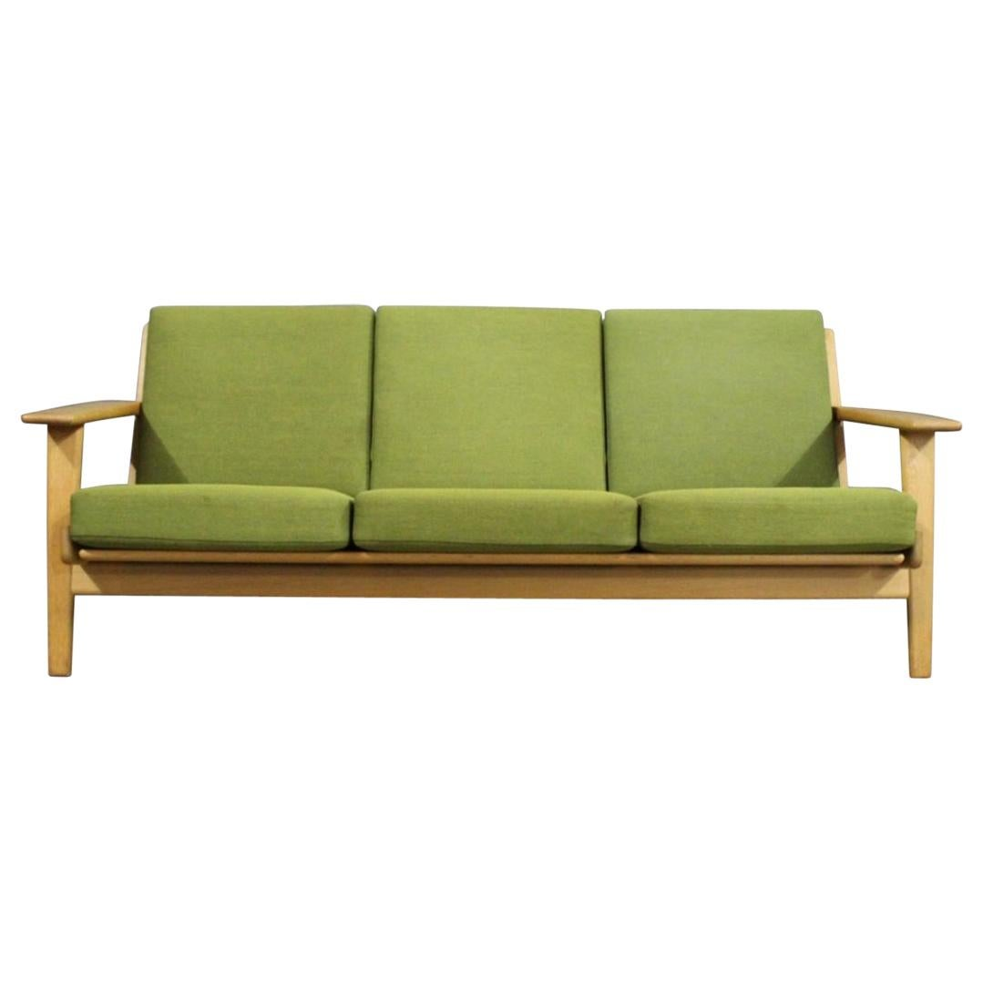 Three-Seat Sofa, Model GE290 in Oak by Hans J. Wegner and GETAMA, 1960s
