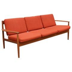 Three-Seat Teak Sofa by Grete Jalk