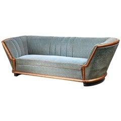 Three-Seat Tub Shaped Sofa, Denmark, 1940s