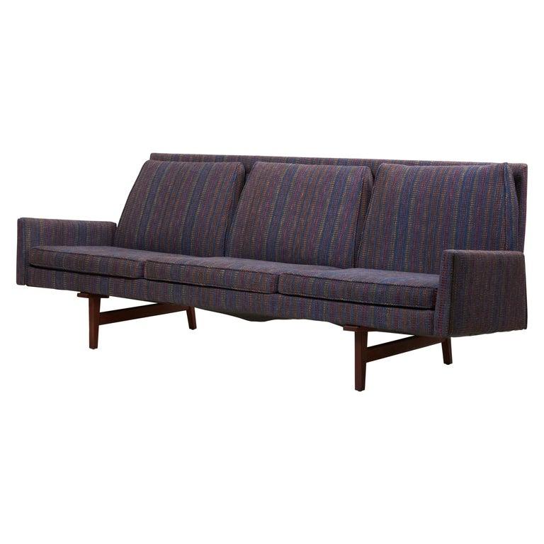 Three-Seat Jens Risom Sofa for Risom Design Inc in Good Condition For Sale