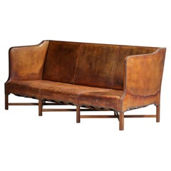Three Seat Sofa by Danish Designer Kaare Klint Model 4118 for Rud Rasmussen