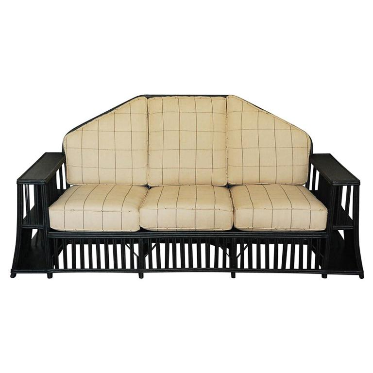 Three seater Wicker Settee For Sale
