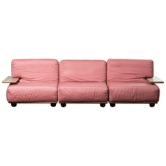 Three-Seats Sofa Mod. Pianura by Mario Bellini
