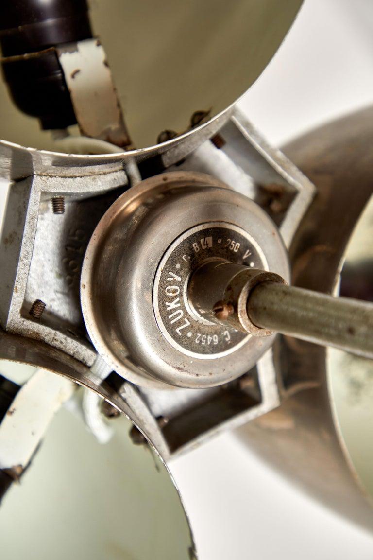 Three-Shade Bauhaus Chandelier by Zukov For Sale 3