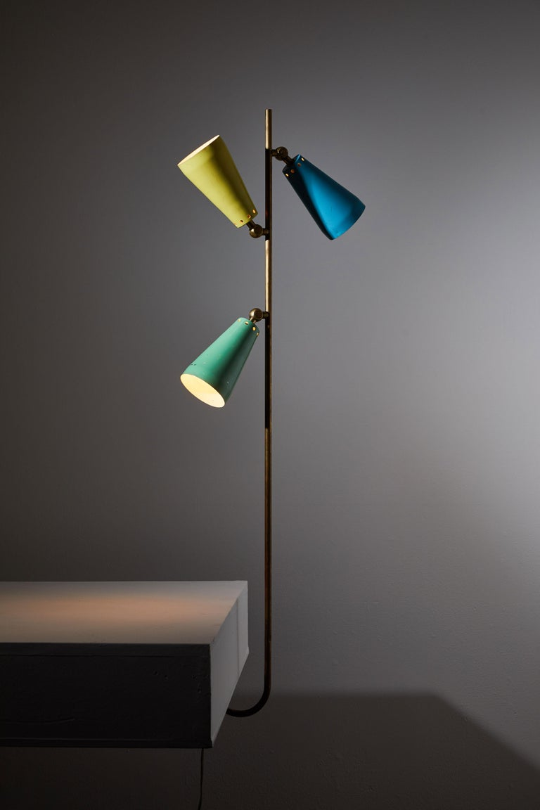 Mid-Century Modern Three Shade Desk Lamp by Arteluce For Sale