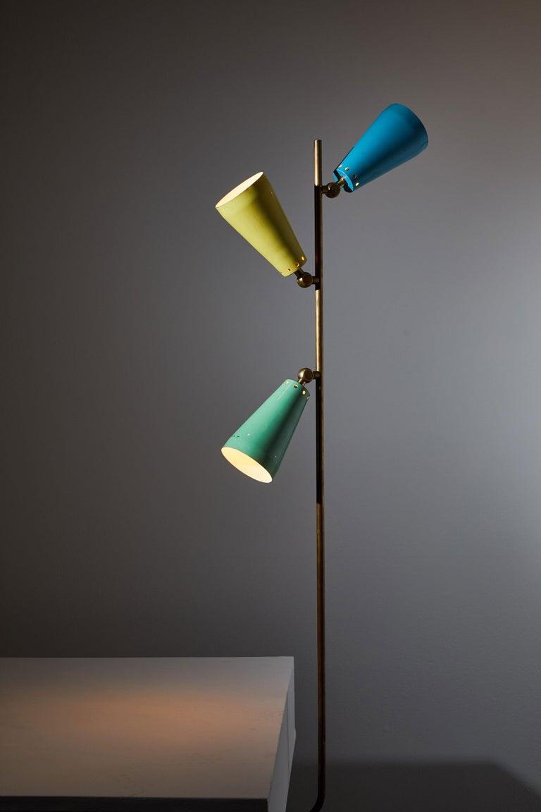 Italian Three Shade Desk Lamp by Arteluce For Sale