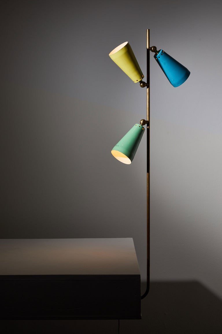 Enameled Three Shade Desk Lamp by Arteluce For Sale